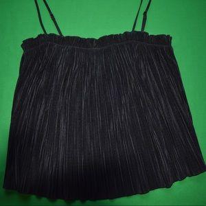 Black fringe top